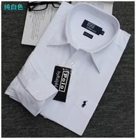 free shipping Male business casual 100% cotton long-sleeve shirt plus size plus size white dress shirts
