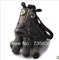 Fashion Creative God Horse shoulder bag personality hair donkey messenger canvas bag Valentine's Day birthday gift for boy man
