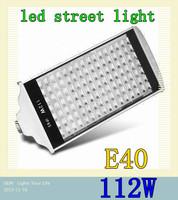 112W AC85-265V 112 leds E40 Warm White/ Cold White Led Street Road Lights Lamps Streetlight 2PCS/LOT