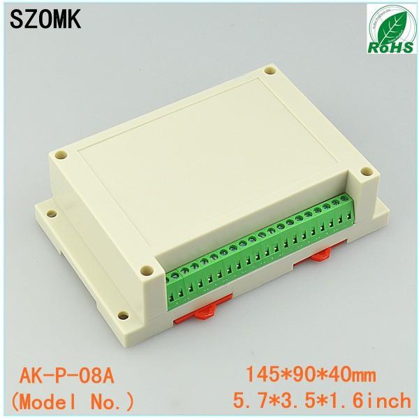 4 pieces plastic enclosure housing din rail plastic electronics enclosure pcb enclosures 145*90*41mm 5.71*3.54*1.61inch(China (Mainland))