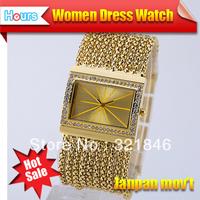 New Fashion Designer Clock Women Brand Quartz Watch Vintage Retro Style Bracelets Full Rhinestone Casual Dress Watches  Hot Sale