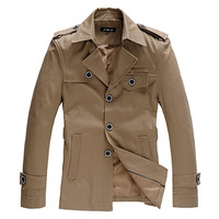 2013 Winter Slim Male Trench Jacket Design Male Plus Size Jacket QP-252