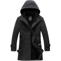 2013 Winter Male Woolen Overcoat Plus Size Velvet Outerwear Jacket QP-231