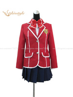 Kisstyle Fashion Guilty Crown YUZURIHA INORI Girl Uniform Cosplay Costume Custom-Made