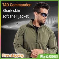 TAD Commander Jackets TAD V4.0 Shark skin soft shell jacket Men's Fleece windproof waterproof warm outdoor Jacket