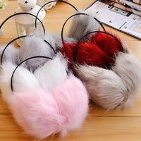 fashion autumn and winter fox fur earmuffs ultralarge ultra soft ear package 6