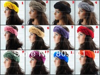 5 pcs/Lot HEADBAND knitted headband knit headwrap Beanie Ear Warmer Braid Crochet Hair Band