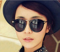 2013 vintage round box metal rivets glasses The new fashion retro round box floral women sunglasses yurt oculos de sol
