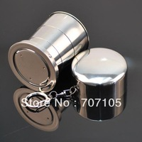 Outdoor Cups Stainless steel Portable retractable cup/Travel glasses/folding cup