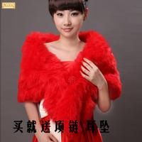 2014 bolero women fur Bride cape winter wedding dress cape thickening wedding accessories shawl cape thermal red faux fur stole