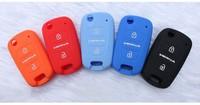 Folding Key Remote Shell For Hyundai Verna key case/key wallets 2 bottoms silicone material
