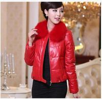 r clothing female medium-long Leather clothing ultralarge female fox fur sheepskin genuine leathedown coat outerwear