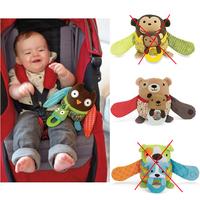 3 pcs/lot SKP Hug and Hide Stroller Toy  plush soft animal baby  teether toys  - owl / bear