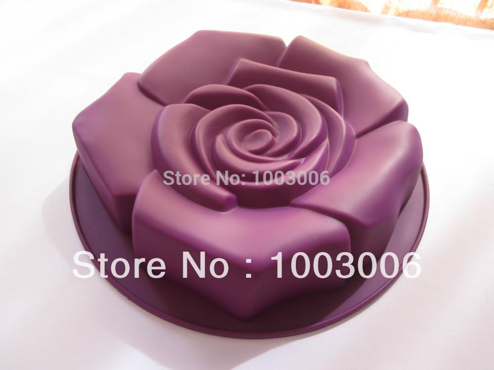 Rose Bundt Cake Images : 2 pcs/lot 100% Silicone rose bundt pan/bakeware/cake mold ...