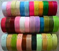 Free shipping 2.0cm width 5roll=250yards Wholesale Lace transparent yarn Sheer organza ribbon webbing, 250Yard/Roll/color