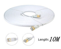 Free Shipping 10M Network Cable Ethernet Cable Cat 7 RJ45 M/M Thin High Speed Flat Shielded Twisted Pair Internet Lan