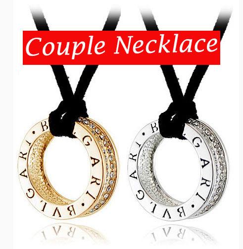 Necklaces Pendants 2pcs Lot Round Pendant Rope Necklace Couple Pendants Circle Pendant Circle Necklace Men Jewelry