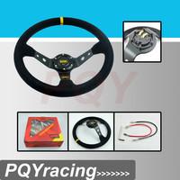 J2 Racing Store- Steering wheel ID=14inch=350mm OMP Deep Corn Drifting Steering Wheel / Suede Leather