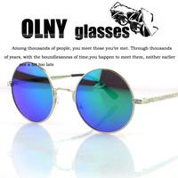 Vintage Retro round frame sunglasses fashion sunglass up to people of non-mainstream oculos de sol OF28054