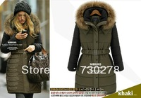 Free shipping,2013 new arrival lady down cotton-padded jacket brand slim medium-long women's plus size winter wadded jacket,B898