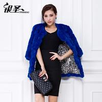 2014 new spring and winter women medium-long fur coat female fur rabbit fur outerwear  Y2P1