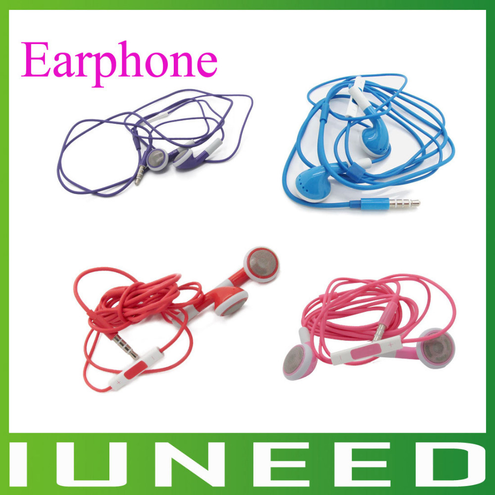 Free Shipment, New Earphone Headphones With Remote Mic For Apple iPhone 5, 4 ,4S ,FOr iPod ,ForiPad(China (Mainland))