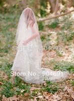 Cathedral Cut Veils 1T Tulle Bridal Veil 1.5 X 5 M Wedding Veil Long Mantilla Blusher Bridal Veils V1301