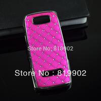 High Quality Luxury Bling Bling Crystal Star Diamond hard Case for Nokia Asha 305 3050 306 3060, Rhinestone case chrome plate