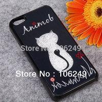 Cute cartoon for iphone 5 5S case fashion design free shipping
