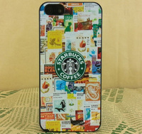New 2014 Wholesale Frosted Plastic Phone Cases  Starbucks Coffee For iPhone 4 4S 5 5S Back Cover Capa Celular Free Shipping