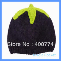 Wholesale 5pcs/lot cute 0-12 months vegetable design kids acrylic beanie hat (eggplant, peas, melons, apple, corn),free shipping
