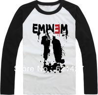 EMMIEM  2013 new designer 100% cotton rock t-shirt long-sleeve basic shirt hiphop emmie eminem t plus size available