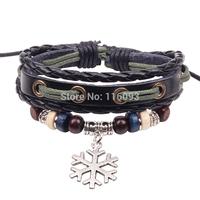 Unique Christmas design snow flak export bracelet wrap for school  girls