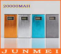 PN-912 Portable Metal Power Bank 20000mAh External Battery Backup Pack Universal Dock Dual USB For iPhone 4 4S 5S samsung iPad