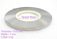 FREE SHIPPING 0.12*7mm Universal Battery Nickel Plate (Nickel Plate Steel),Battery Tabs,Nickel Strips