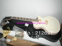 Mahogany Body Unfinished Electric Guitar Kit With Flamed Maple Top with hardware Mahogany Body Electric Guitar
