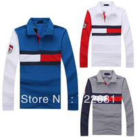 2013 Free shipping New Fashion POLO Men's T-Shirt Long sleeve Sport Shirt Casual POLO Shirt For Men Sport Wear