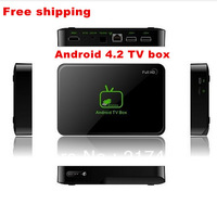 Free shipping!Android 4.2 TV BOX  TV receiver VIA 8880 Dual-Core dikaryon 1.5GHZ ,ARM Cortex A9  DDR3 1GB Support drop shipping!