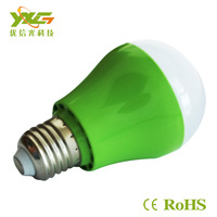 Free shipping 5W led bulbs,85-265v 450lm e27 220v green shell led bulb lamp