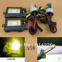 Car Auto parts Xenon 55W Xenon HID Conversion Slim Kit H3 3000K