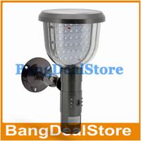 Solar DVR Security Camera - PIR Motion Detection Video Recording, 39 White LED Lights