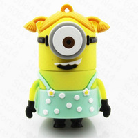 Creative Silicon Minions Despicable Me 8/16/32GB USB 3.0 Super-speed Flash Memory Stick Drive U Disk Thumb Drive Free Shipping