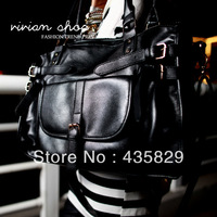 Fashion buckle 2013 women's shoulder bag preppy style multi-pocket  handbag vintage bag