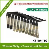 DHL Free Shipping  2.4Ghz wireless DMX transmitters DMX512 wireless receiver DMX wireless controller