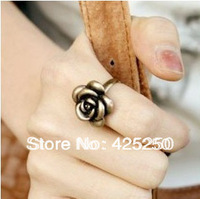 Min.order is $9 (mix order) Free Shipping ! Ladies Stylish Romantic bronze roses Ring R2703
