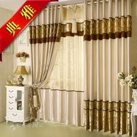 Quality satin shading cloth curtain thickening bedroom curtain living room curtain window screening the finished curtain
