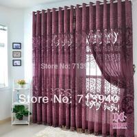 Purplish red living room curtain quality translucent carved screens vintage elegant for room