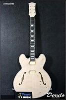 DIY Electric Guitar Kit  Set-In Neck  Hollowbody  Flamed Maple Veneer MX-106