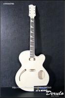 DIY Electric Guitar Kit  Set-In Neck  Hollowbody  Flamed Maple Veneer MX-105