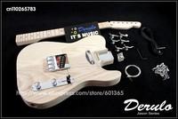 DIY Electric Guitar Kit  Bolt-On Neck  American ash body  Unfinished